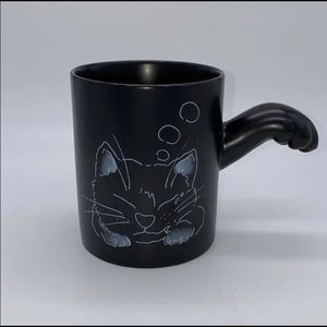 Vintage Black Kitty Cat Paw Mug